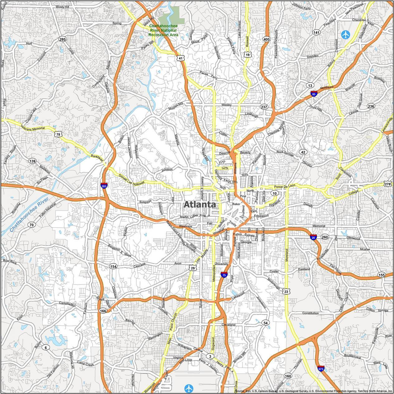 Atlanta Road Map