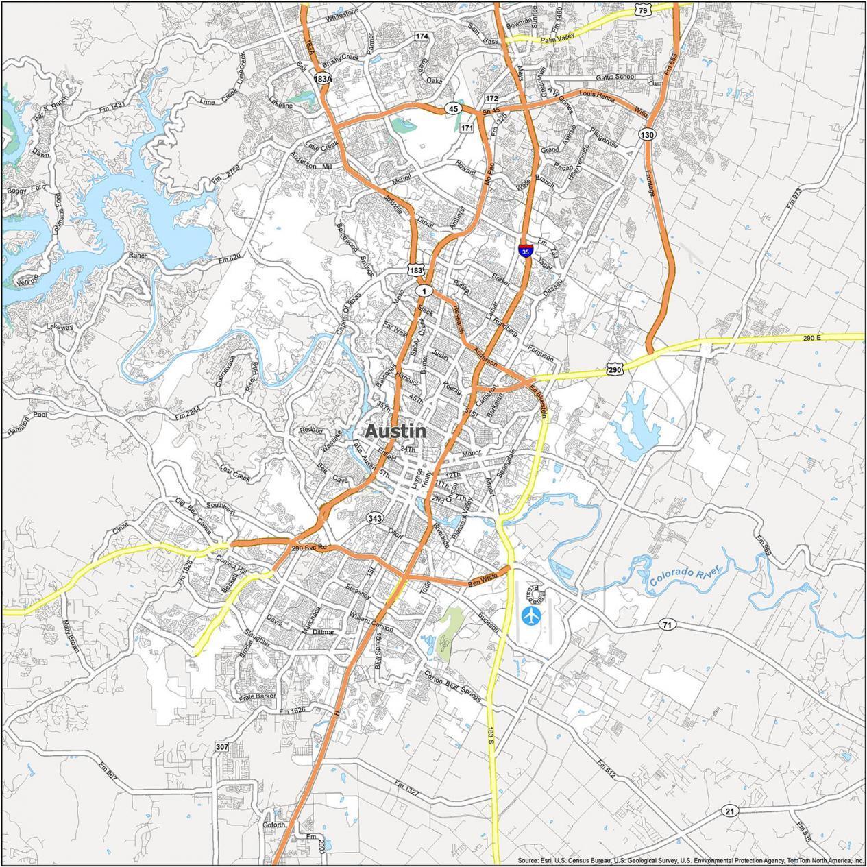 Austin Road Map