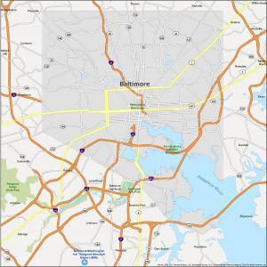 Baltimore Map Maryland