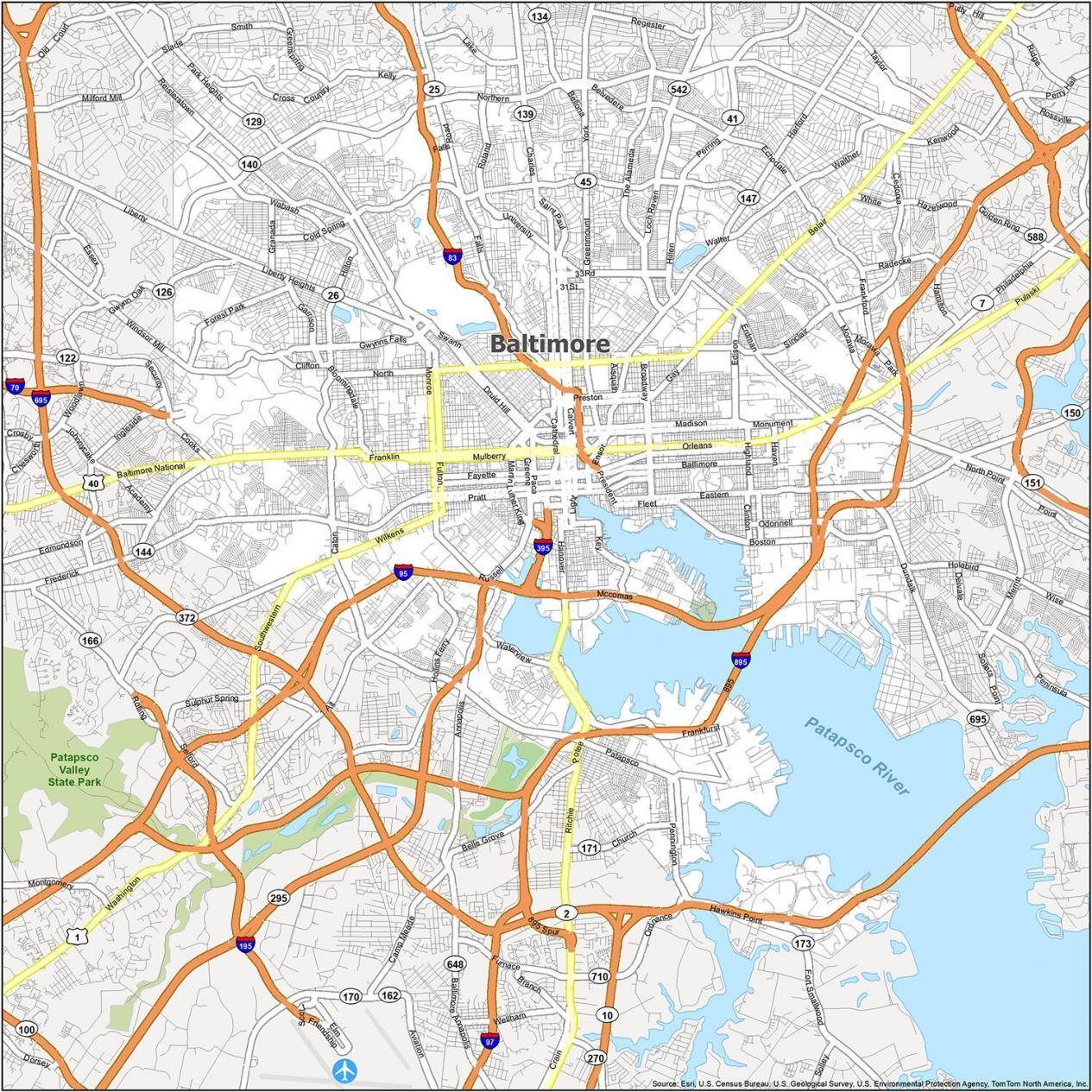 Baltimore Road Map