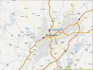 Birmingham Map Alabama