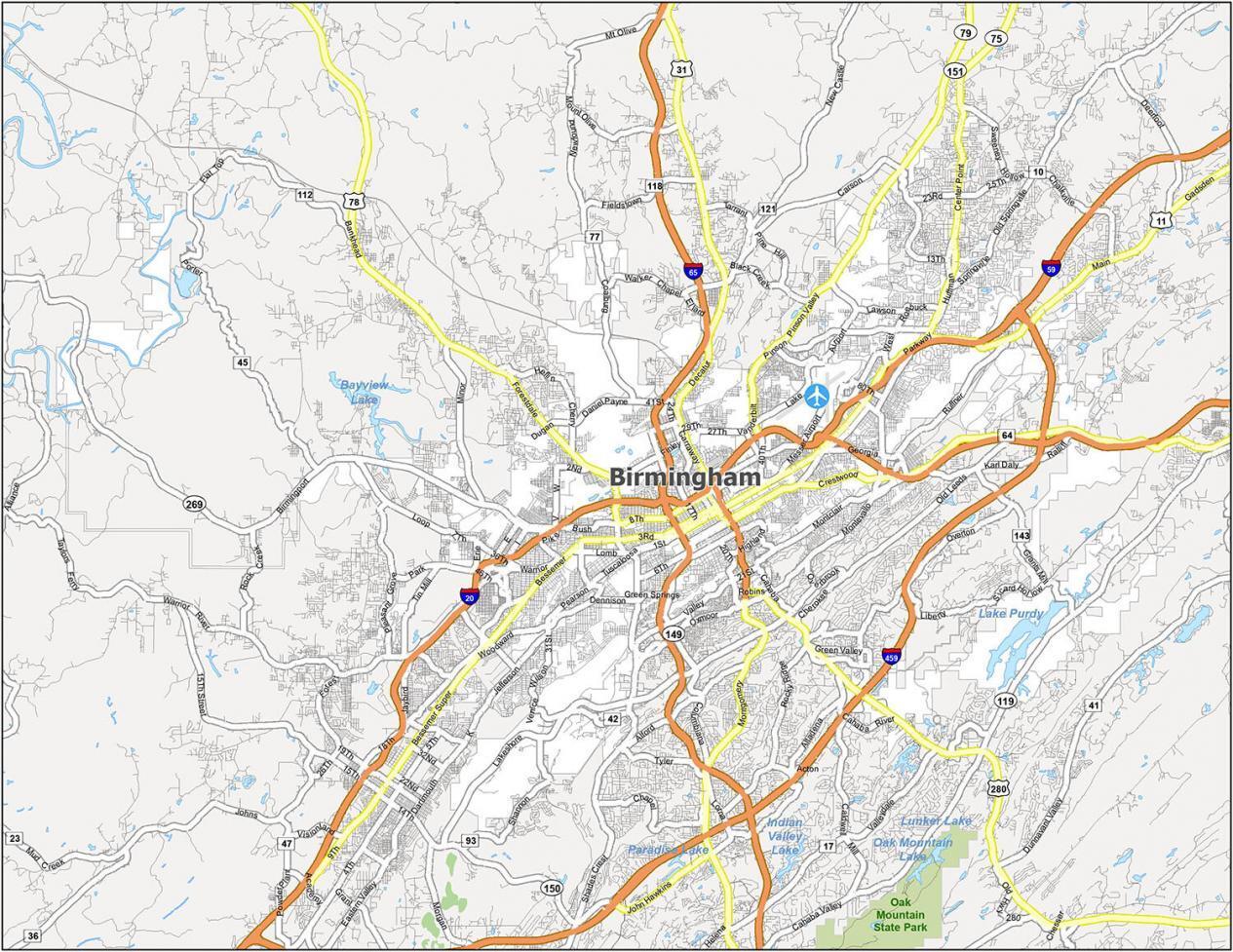 Birmingham Road Map