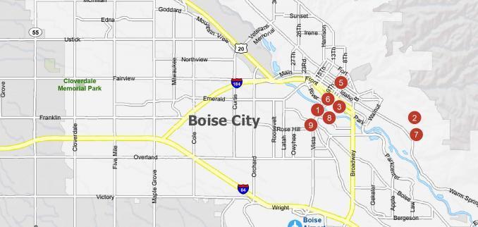 Boise City Map Feature