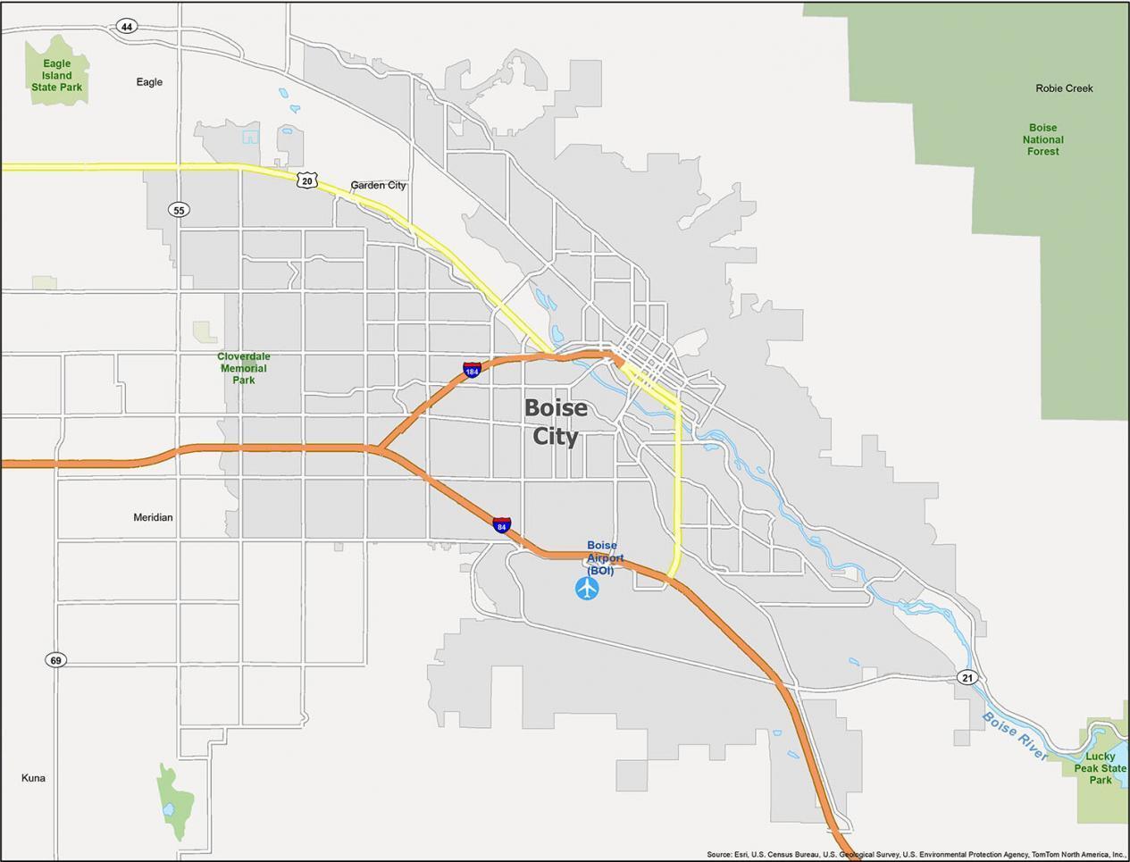 Boise Map Idaho