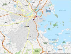 Boston Map Massachusetts