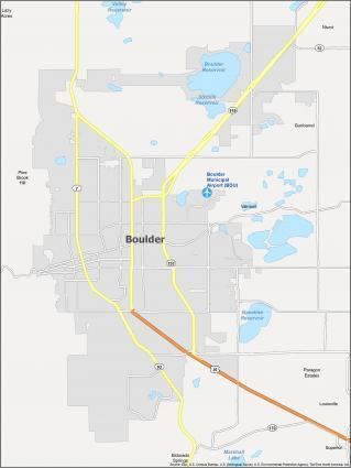 Boulder Map Colorado