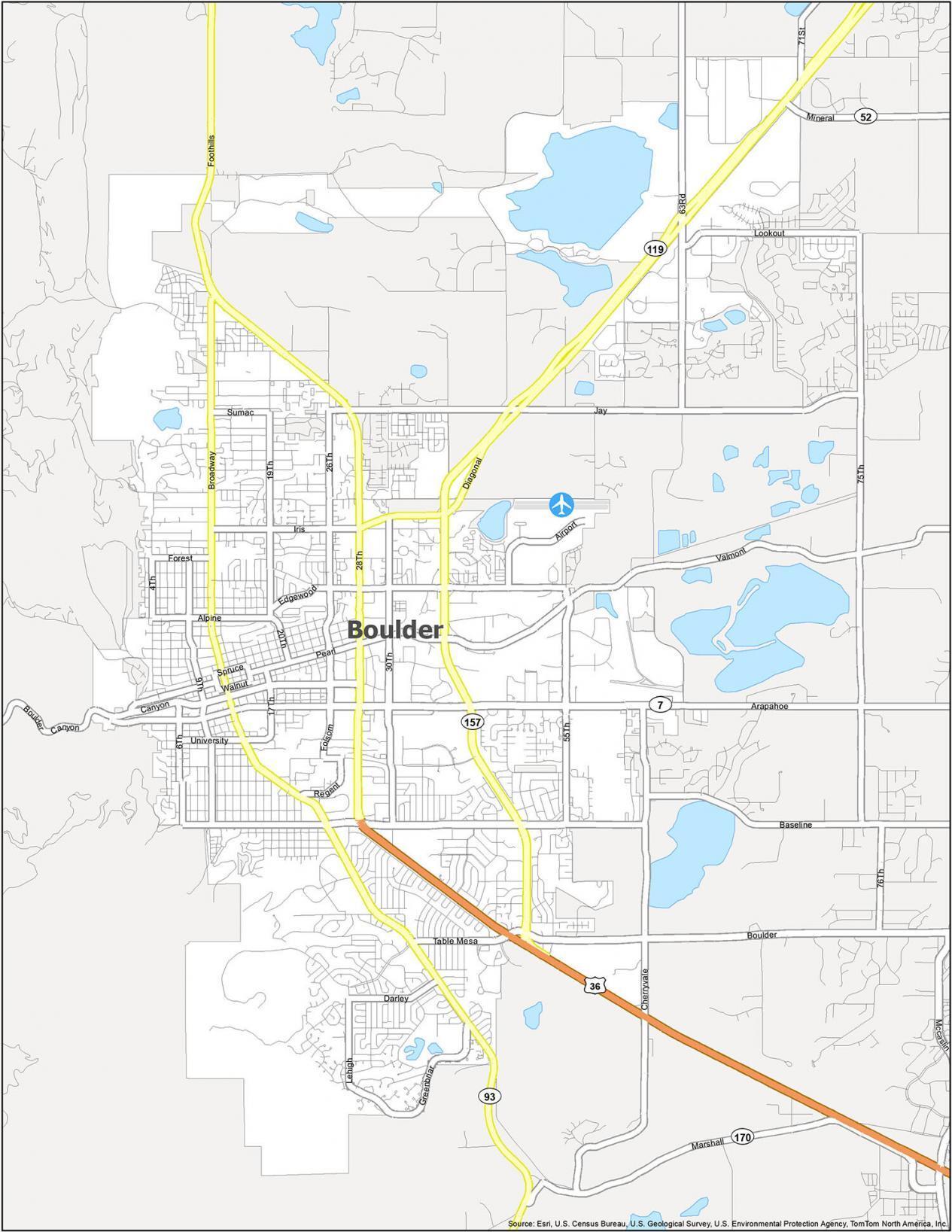 Boulder Road Map