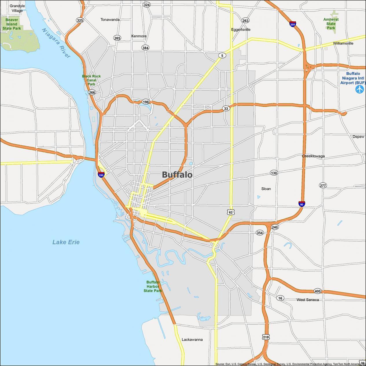 Buffalo Map New York