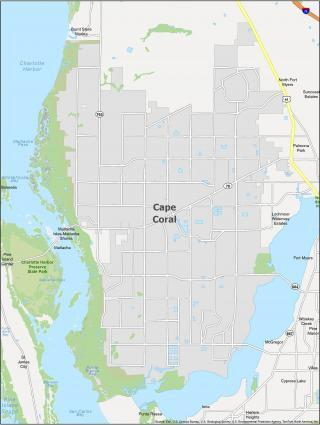 Cape Coral Map Florida