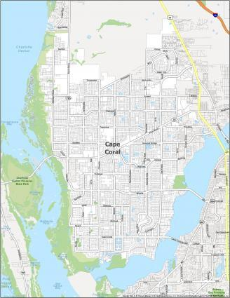 Cape Coral Road Map