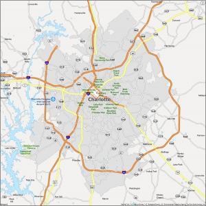 Charlotte Map North Carolina
