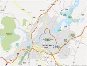 Chattanooga Map Tennessee