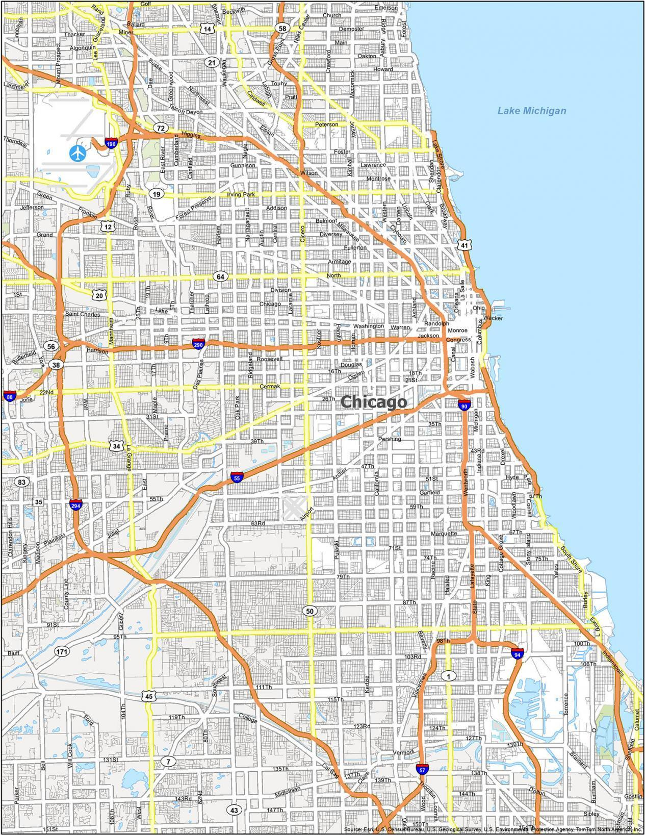 Chicago Road Map