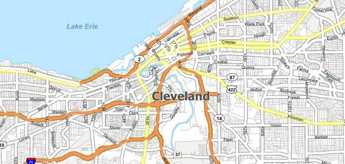 Cleveland Map