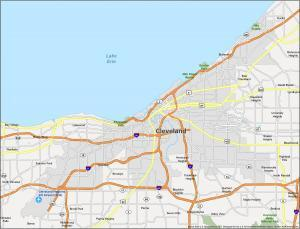 Cleveland Map Ohio