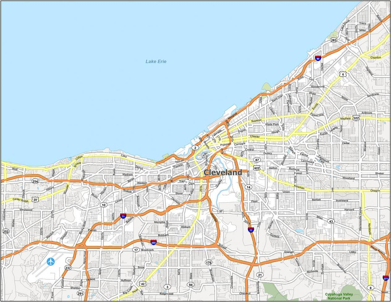 Cleveland Road Map