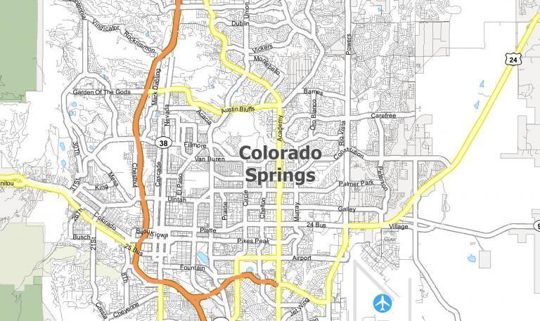 Colorado Springs Map [Colorado]