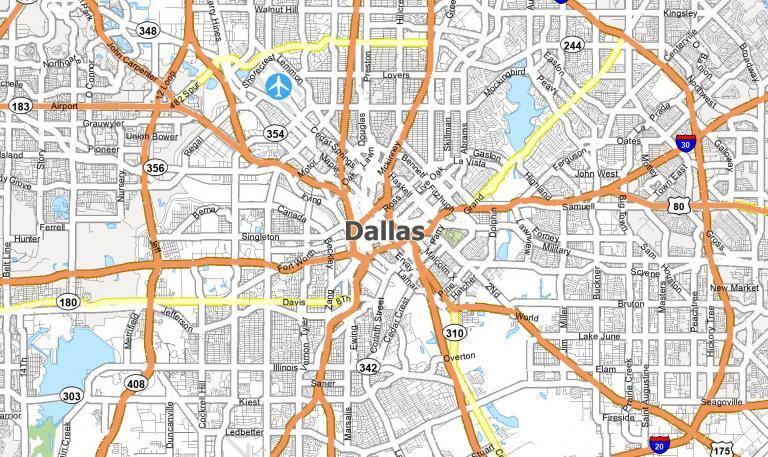 Dallas Map [Texas]