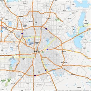 Dallas Map Texas