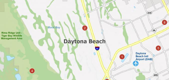 Daytona Beach Map