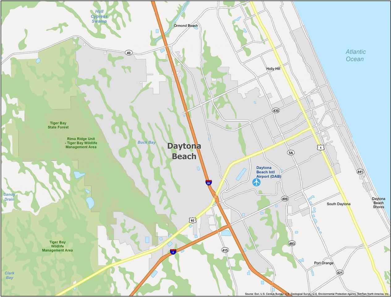 Daytona Beach Map Florida
