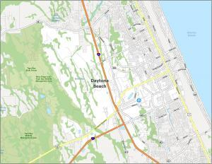 Daytona Beach Road Map