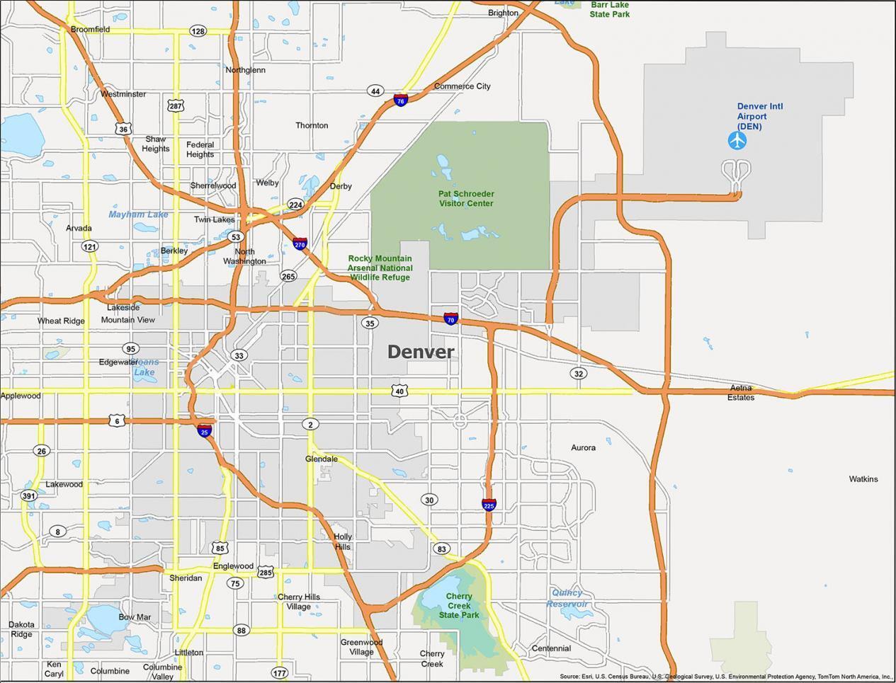 Denver Map Colorado