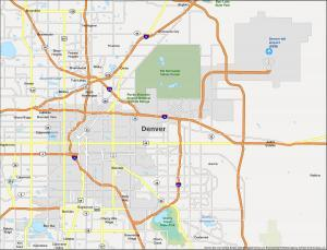 Denver Map Colorado