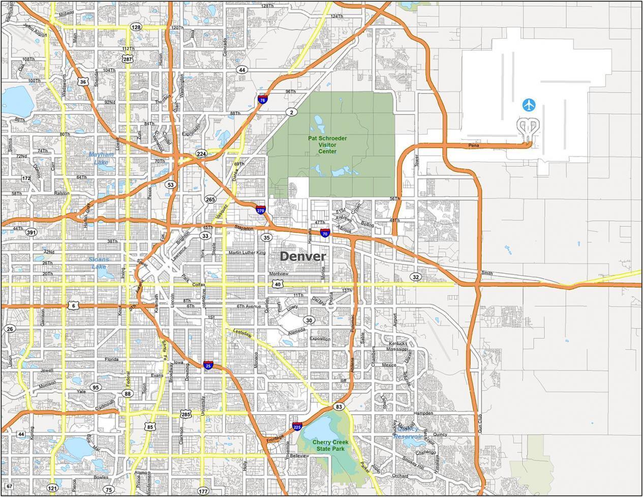 Denver Road Map