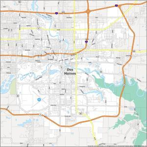 Des Moines Road Map
