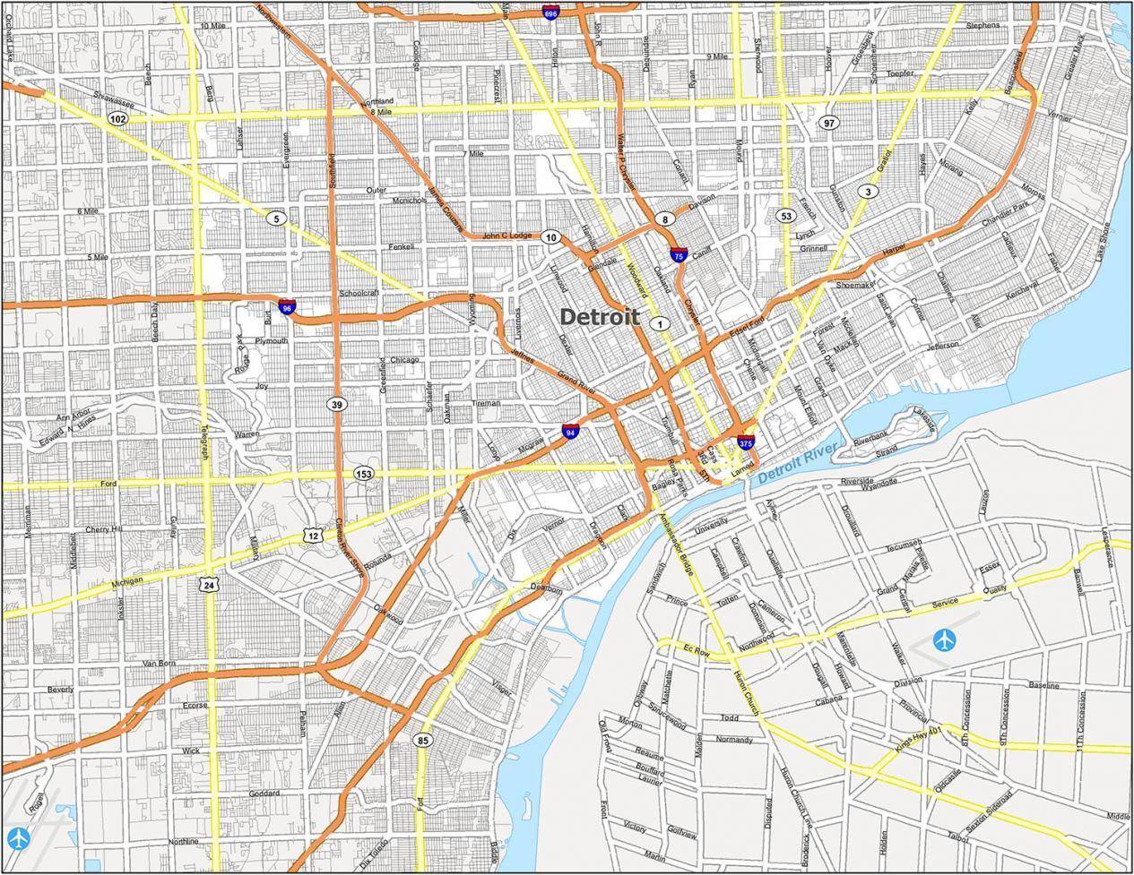 Detroit Road Map