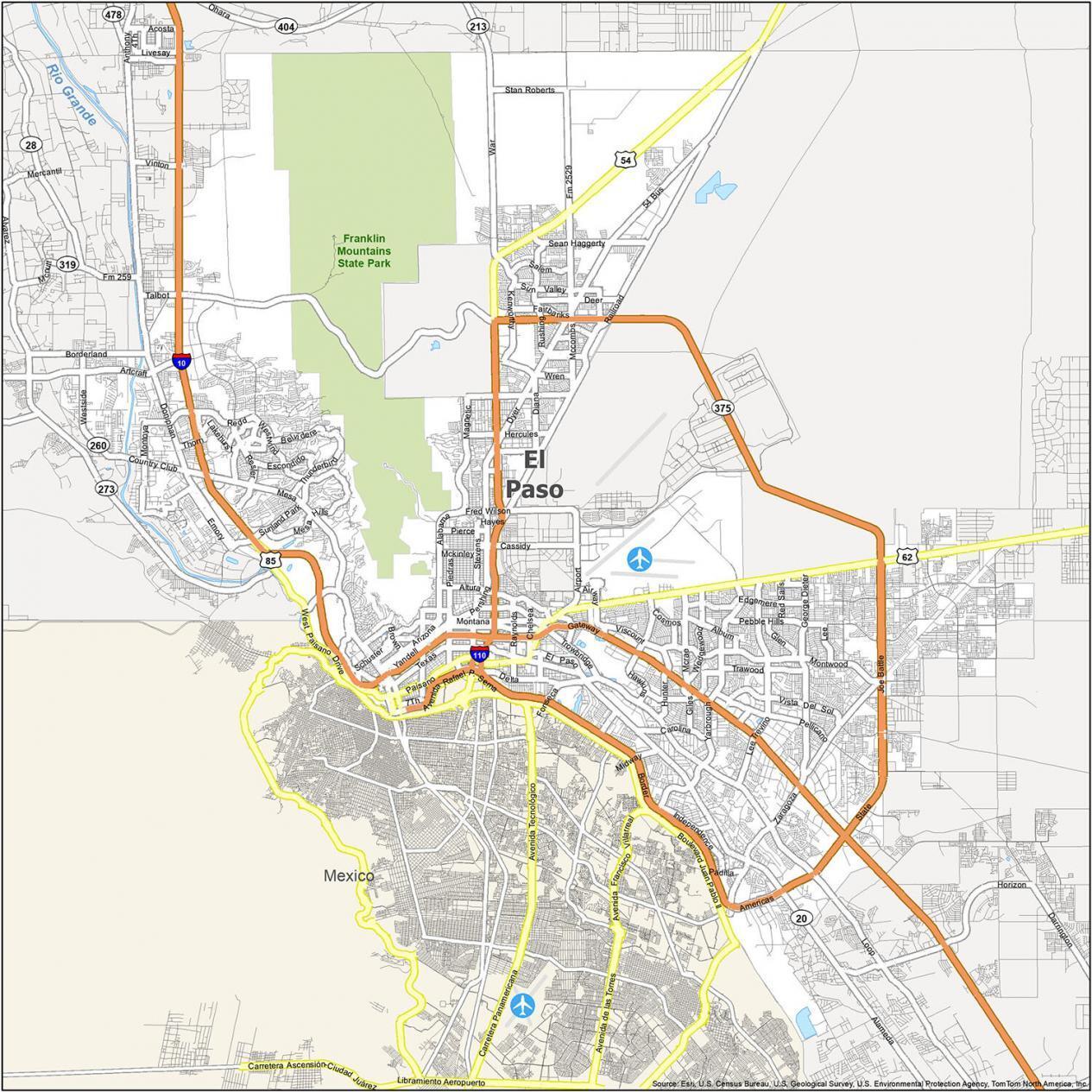 El Paso Road Map