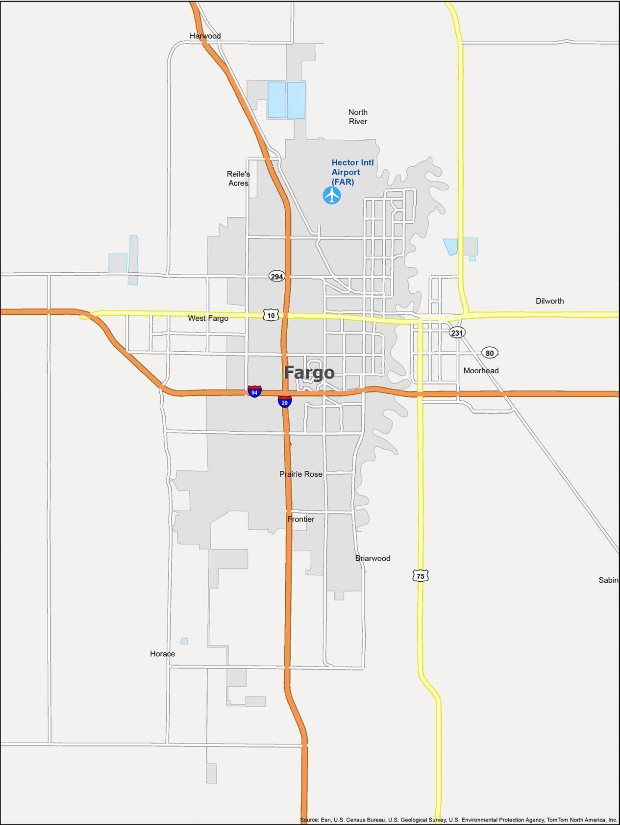 Fargo Map North Dakota