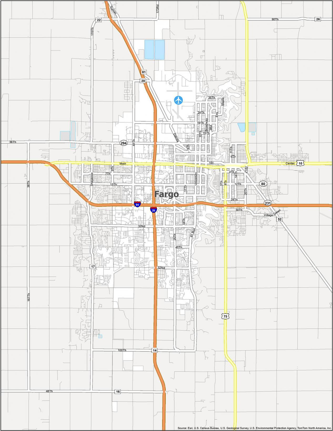 Fargo Road Map