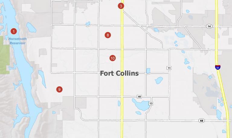 Fort Collins Map [Colorado]
