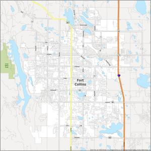 Fort Collins Road Map