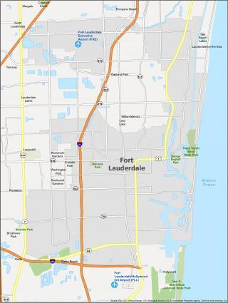 Fort Lauderdale Map Florida
