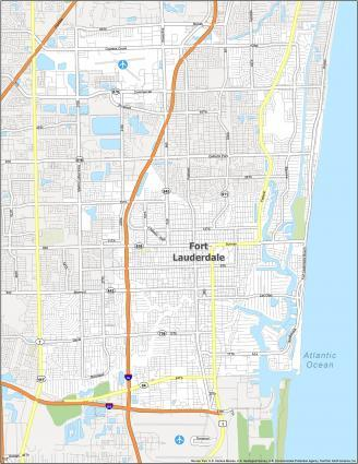Fort Lauderdale Road Map