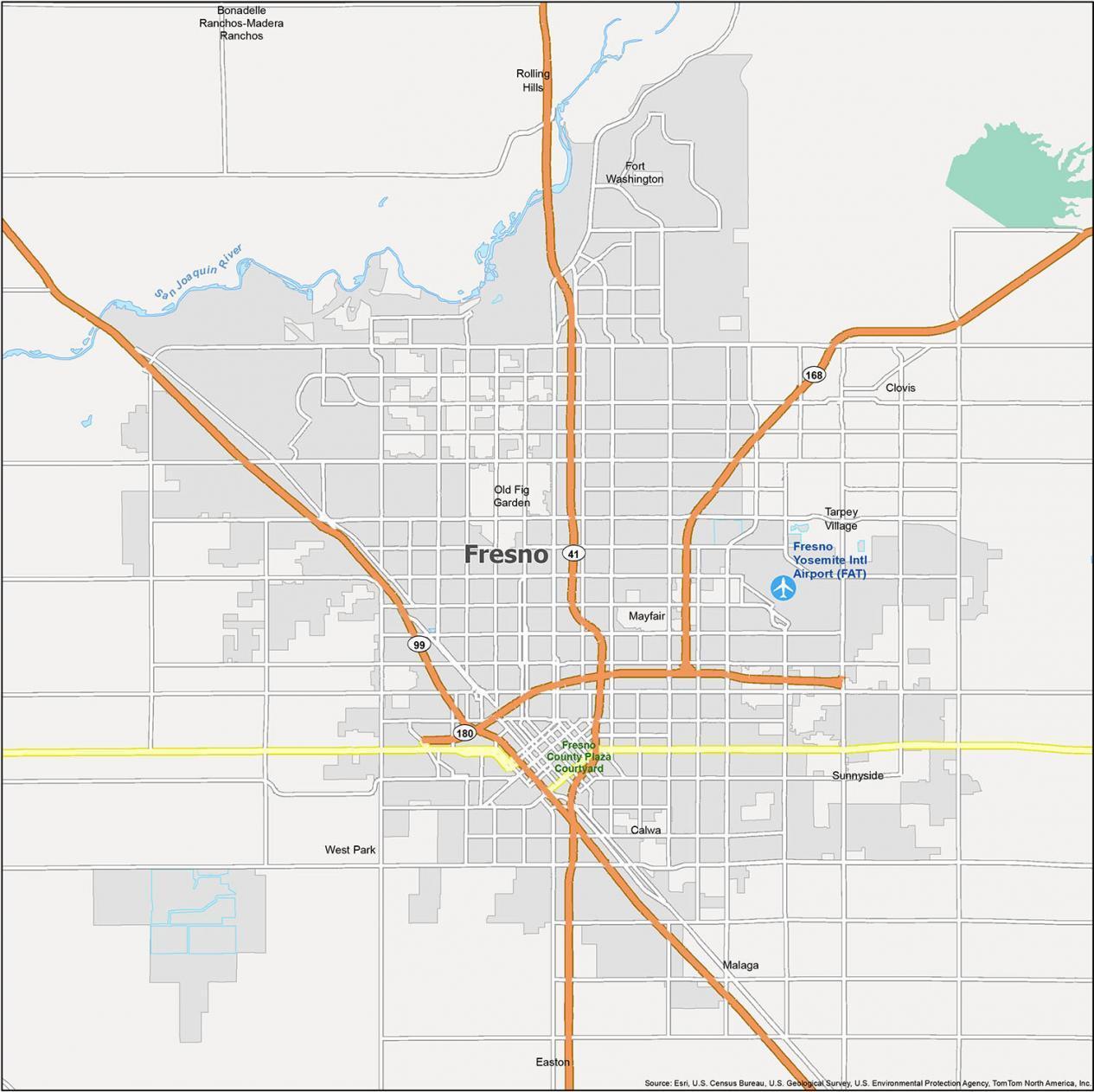Fresno Map California