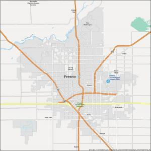 Fresno Map California