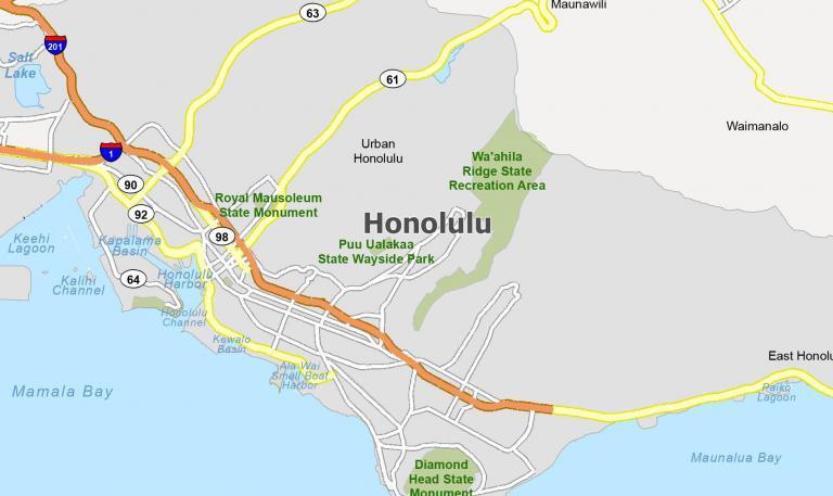 Honolulu Map [Hawaii]