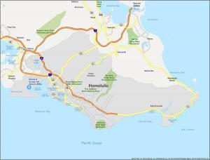 Honolulu Map Hawaii