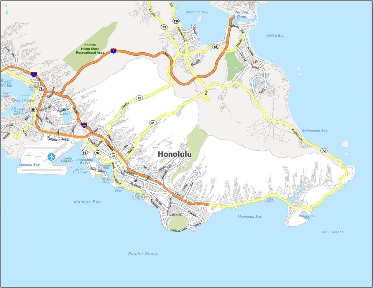 Honolulu Road Map