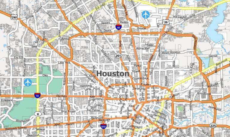 Map of Houston, Texas