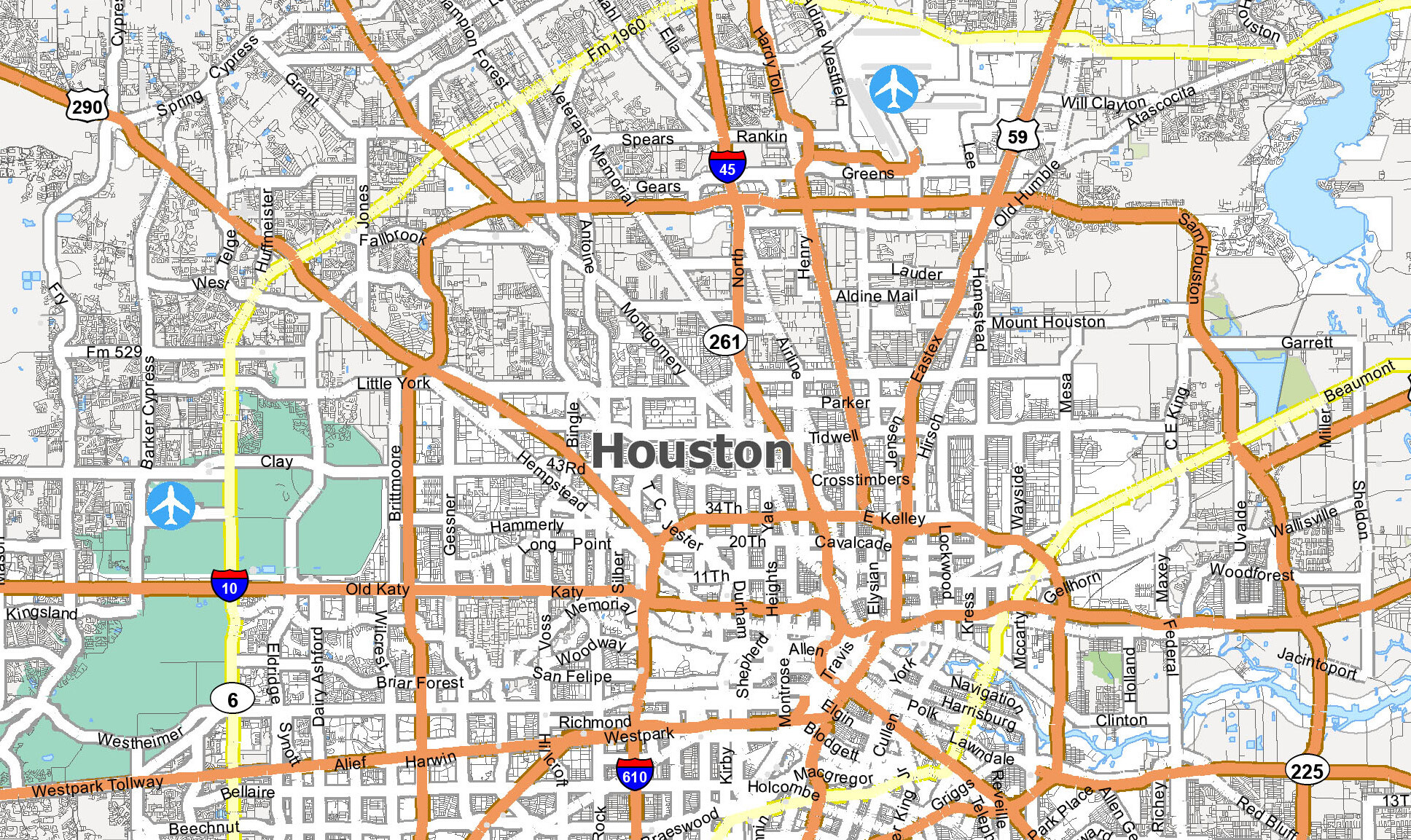 Picture of: Houston Map Collection Texas Gis Geography