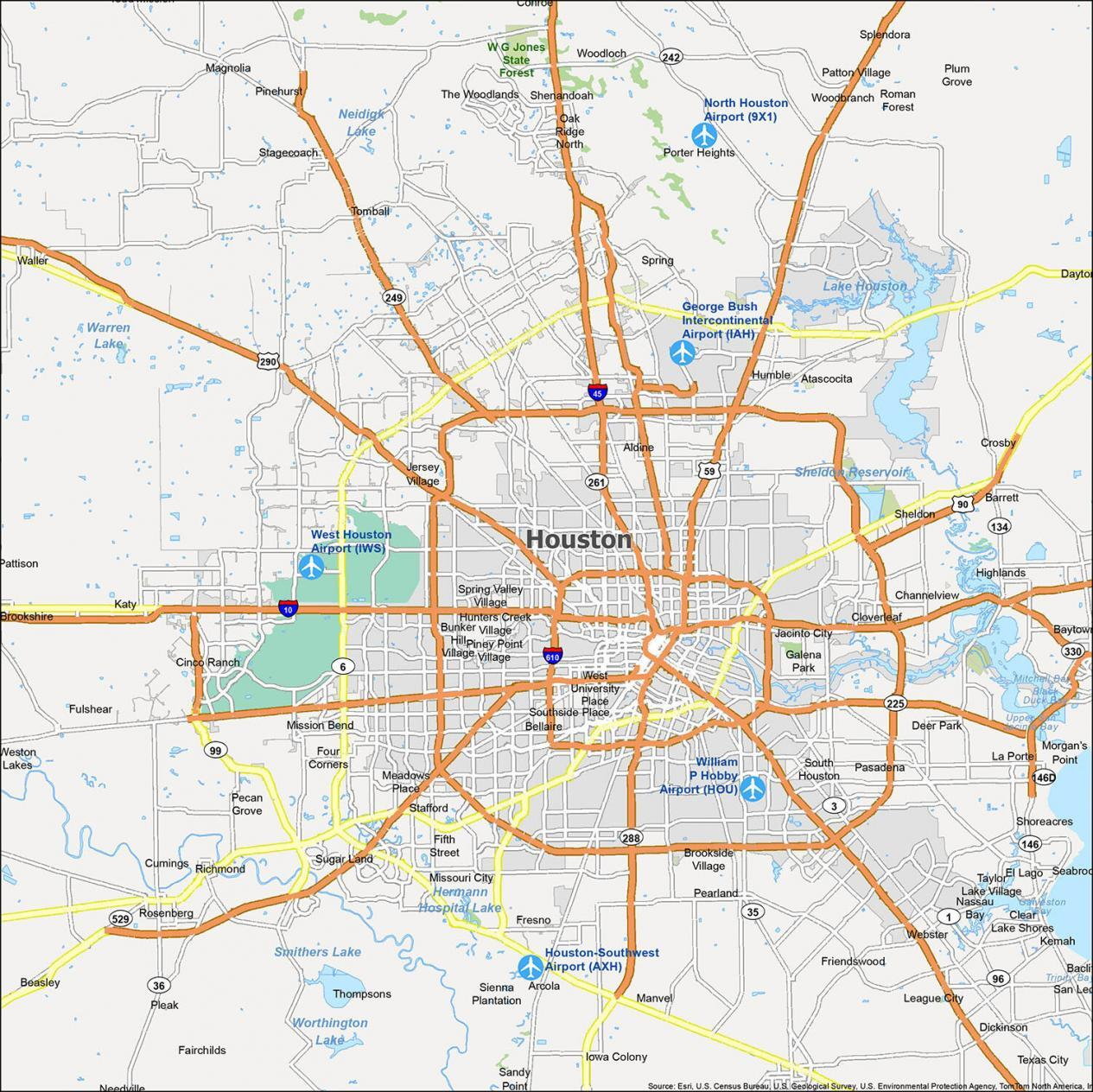 Houston Map Texas