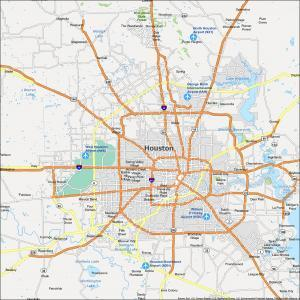 Houston Map Texas
