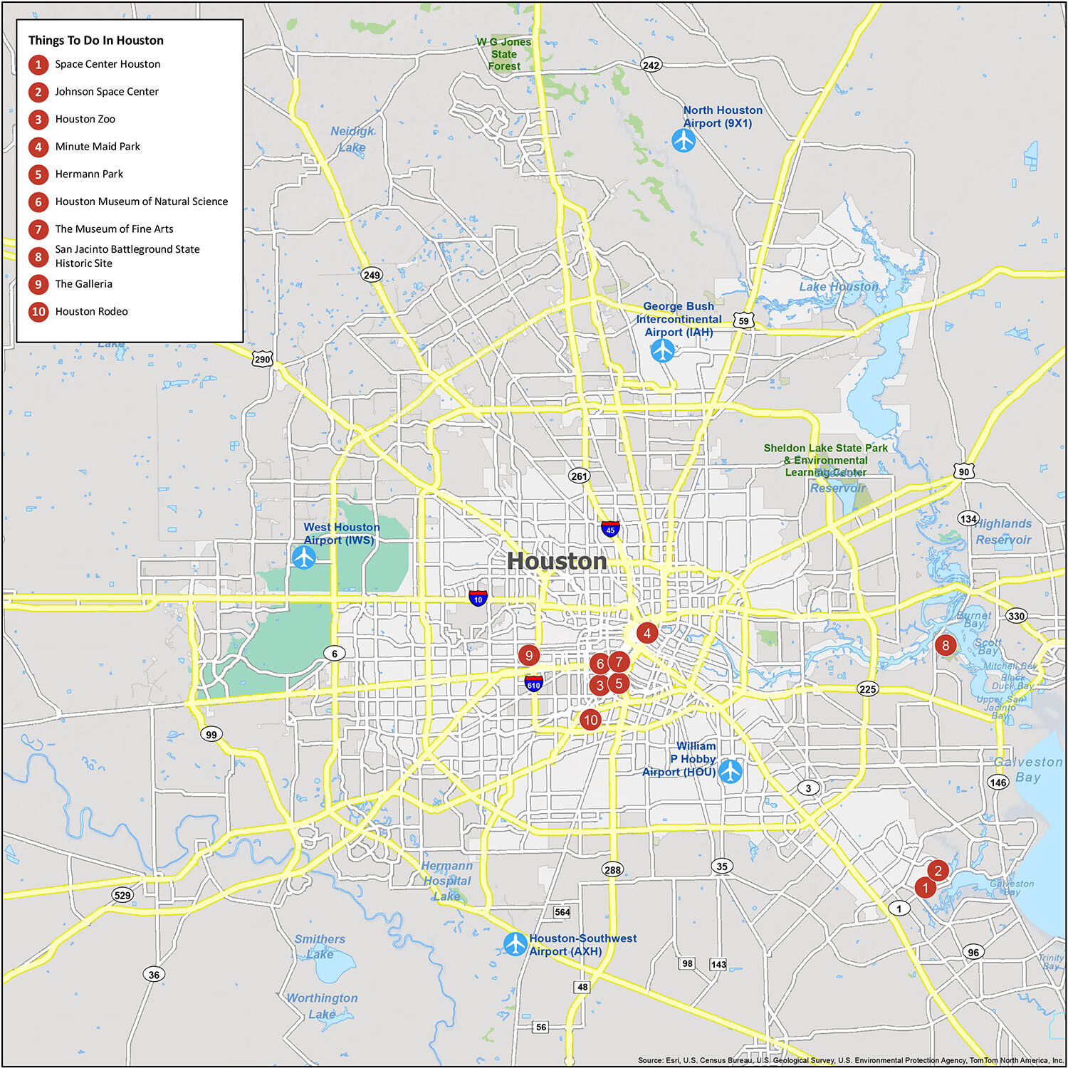 Houston Map Collection Texas Gis Geography
