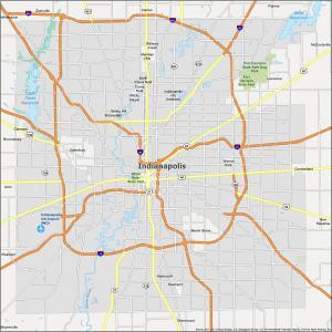 Indianapolis Map Indiana