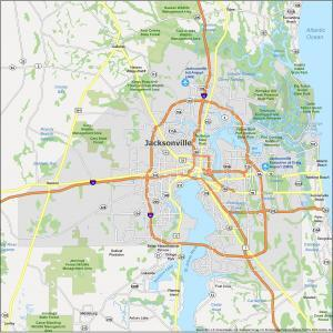 Jacksonville Map Florida